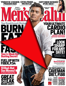 Magazine showing the caveman diet